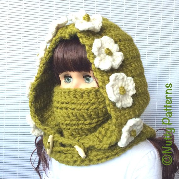 Crochet Patterns Montana Hood with Cowl Instant Download | Niños ...