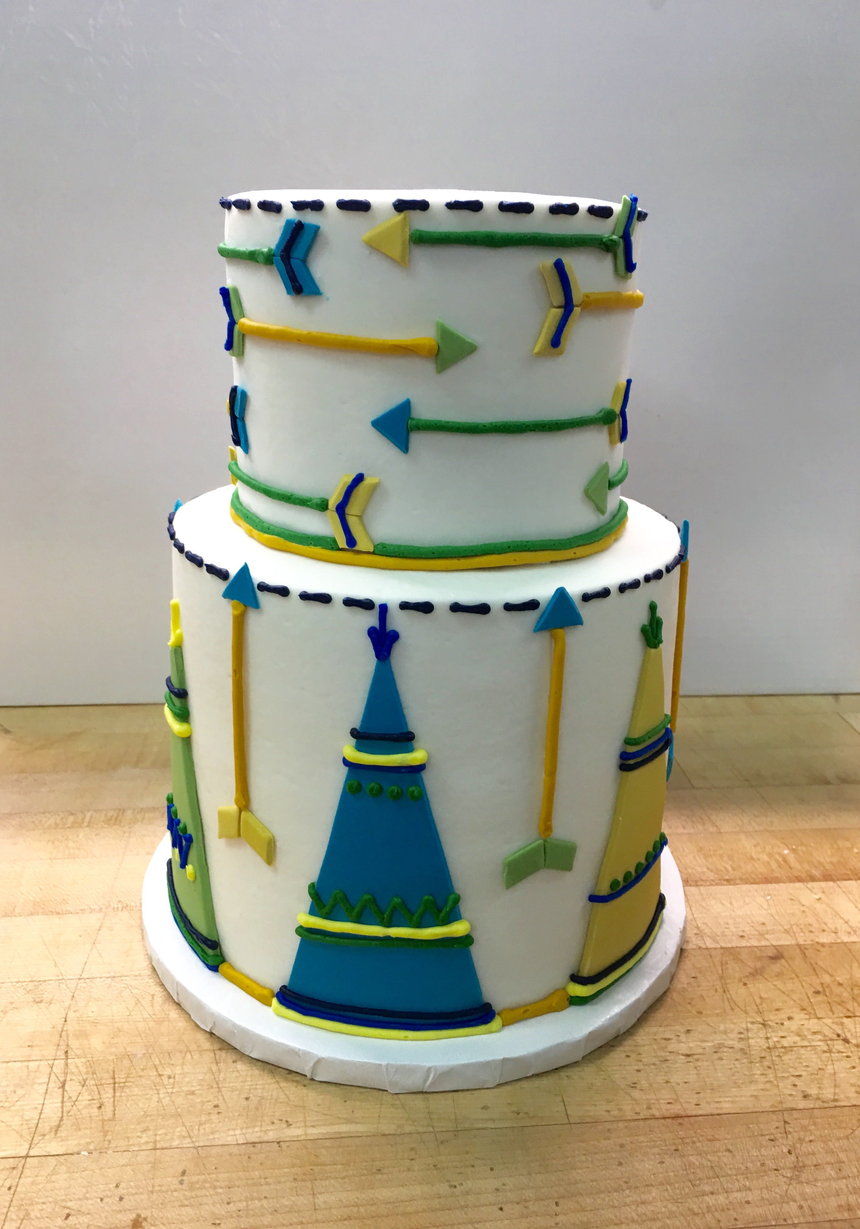 Tepee And Arrow Baby Shower Cake Specialty Cakes Pinterest