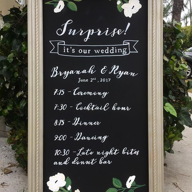 Surprise Wedding Sign Idea Chalkboard Its Our