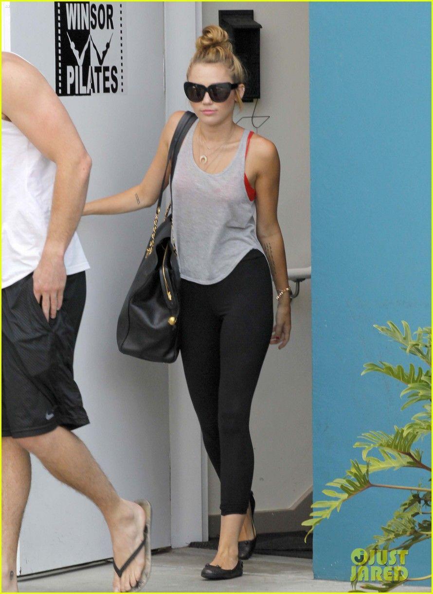 Miley Cyrus leaving gym