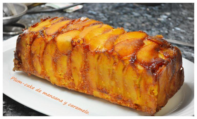 Plum Cake De Manzana Y Caramelo Recetas De Dulces Faciles Recetas Con Manzana Postres De Manzana
