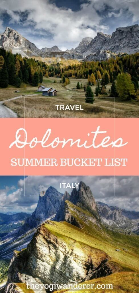 Summer in the Italian Alps is absolutely stunning and a great season to see the Dolomites. Check out 10 great things to do in the Dolomites in summer, in the beautiful region of Trentino, in Northern Italy, including the best hiking trails, lakes and waterfalls for your travel bucket list.    italytraveltips #greecetravel #northernitaly #italyvacation #absolutelystunning #solotravel #traveladvice #travelguides #hikingtrails