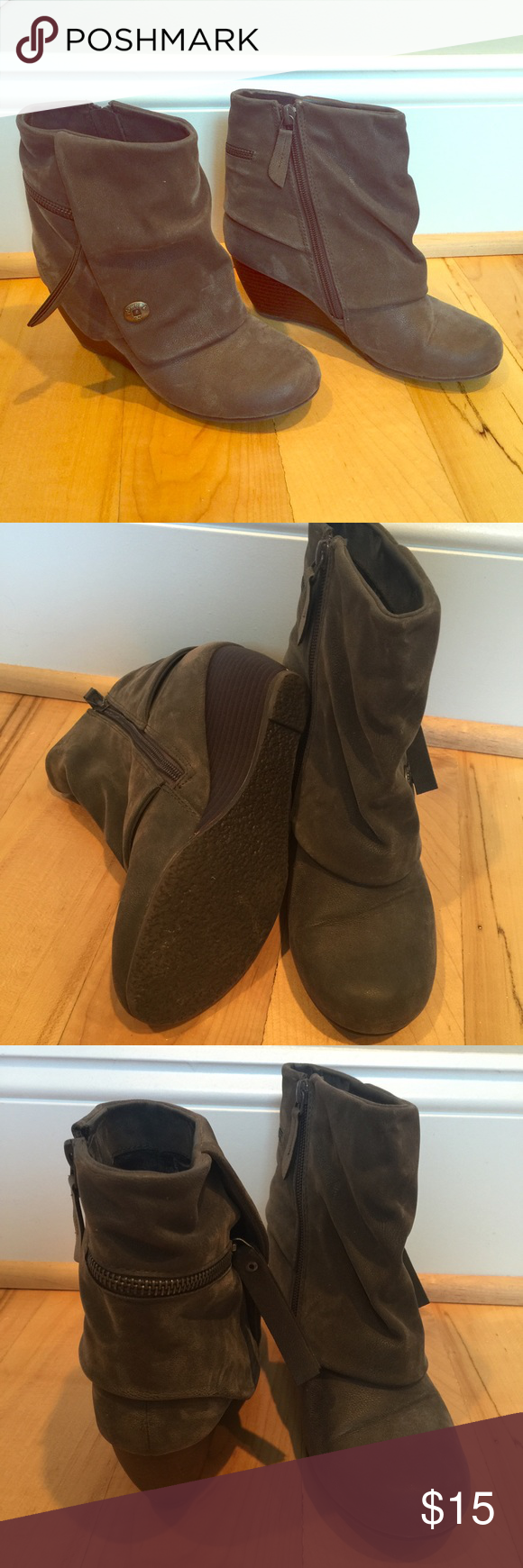 Gray Suede Trendy Ankle Boots by Blowfish Super cute grey suede ankle boots with a side zip. Only worn a handful of time. No visible flaws and super comfy. Blowfish Shoes Ankle Boots & Booties