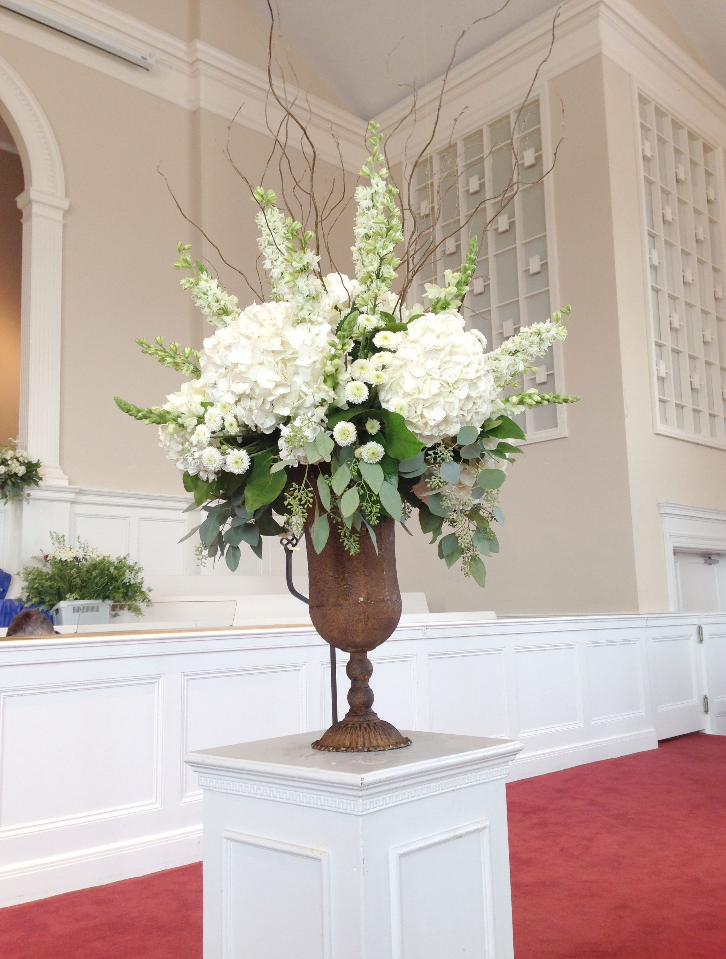 Church Arrangement  Florals  Wedding Decorations  Traditional Wedding