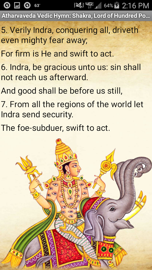 This is an ancient hymn from the Vedic Hindu Atharvaveda