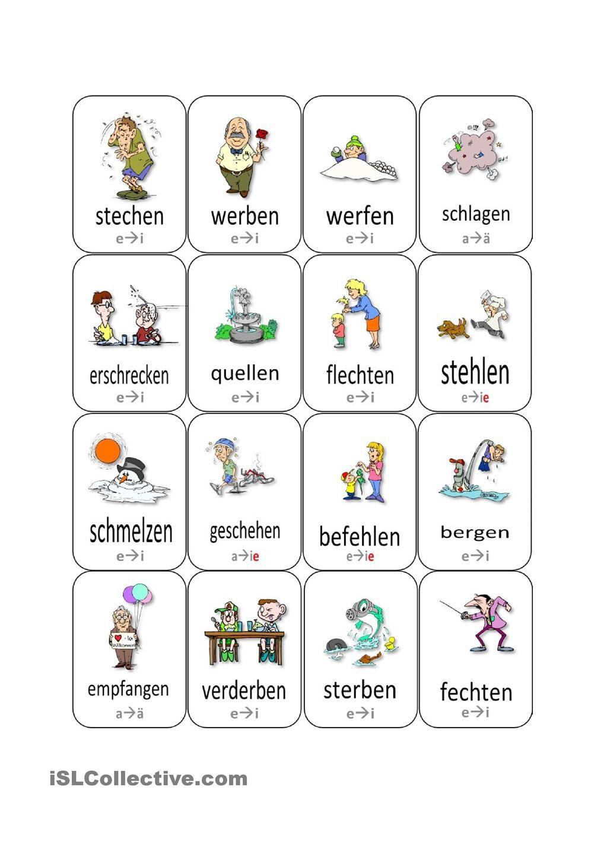 Stammvokaländerung bei Verben (Update) | Eğitim/Almanca | Pinterest ...