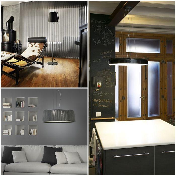 Tendencias de iluminación 2016. El gris en paredes, muebles y complementos sigue como protagonista, combinado dentro de la gama de los grises y con colores.
