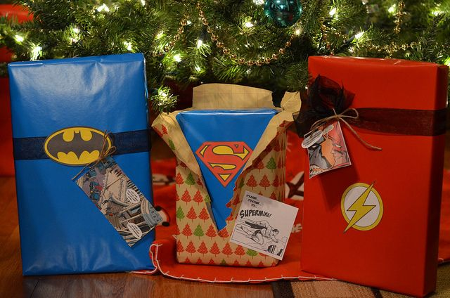 Superhero Giftwrapping Gonna Make This For My Bestfriend