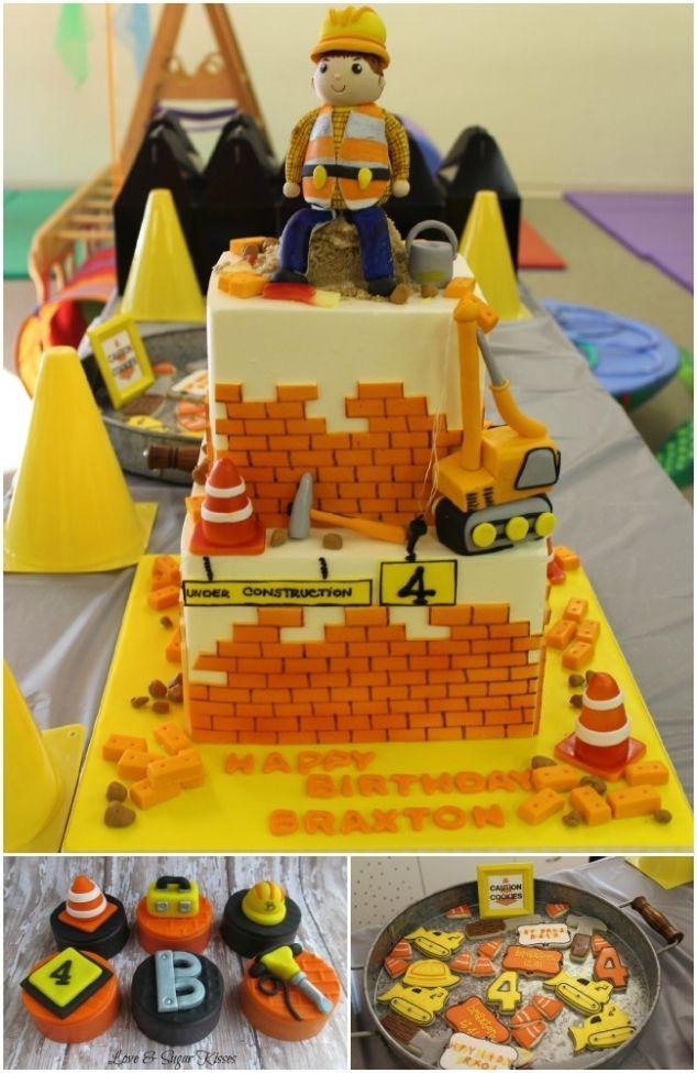 Construction Birthday Party Cake wwwspaceshipsandlaserbeamscom