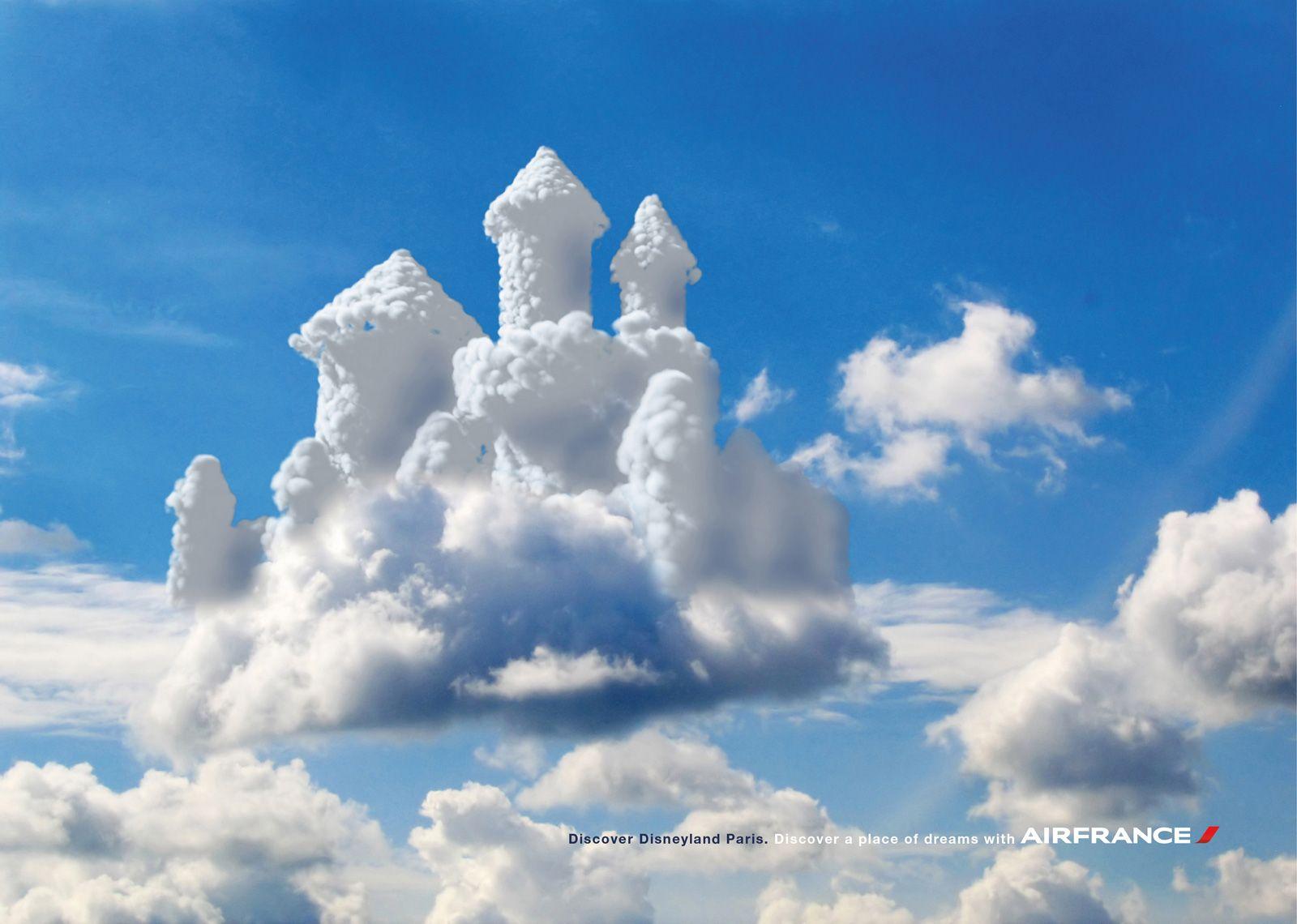 Un Chateau Dans Les Nuages air france - nuages chateau   nuvem, castelo no céu, diário