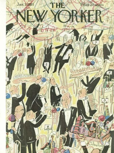 Ludwig Bemelmans : Cover art for The New Yorker 1455 - 3 January 1953
