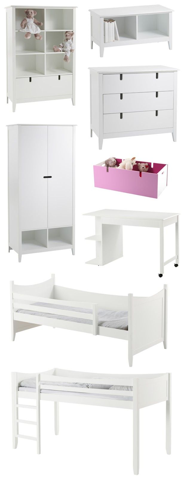 lovely coordinating bedroom furniture...
