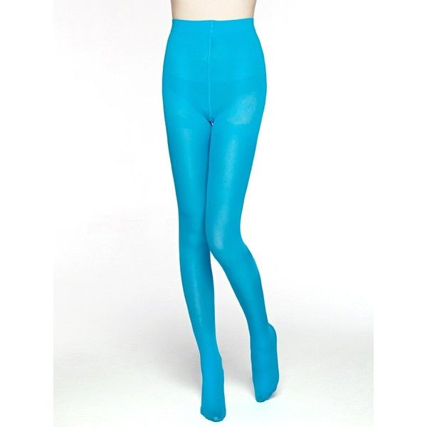 f3ee764918d MOOCHI Women 80 Denier Semi Opaque Tights (Blue) at Amazon Women s...  ( 7.98) ❤ liked on Polyvore featuring intimates