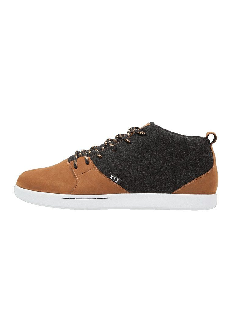 K1X SCHN1TZEL Sneakers hoog dark honey/black