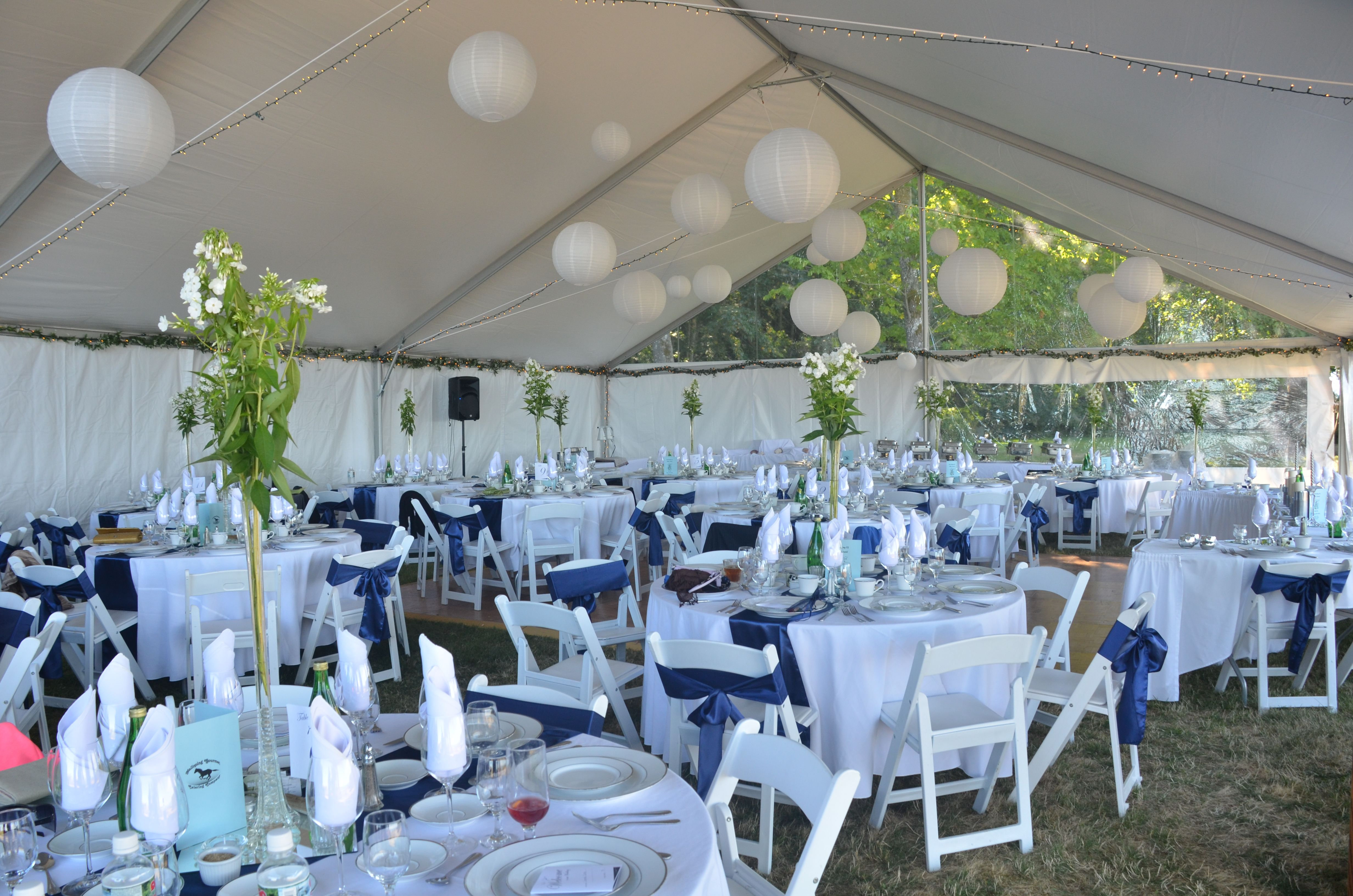 Wedding~Inside the gable end tent
