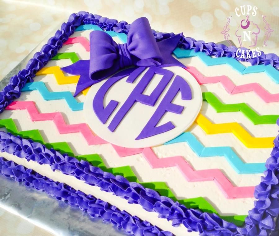 Amazing Chevron Monogram Cake By Cups N Cakes With Images Chevron Funny Birthday Cards Online Alyptdamsfinfo