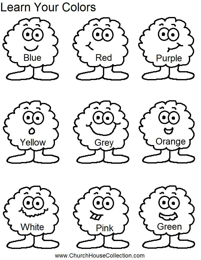 Colors for learning free printable learning colors coloring pages are - Learn Your Colors For Preschool Headstart School Kids Free Printable Template Worksheet For Kids To Color