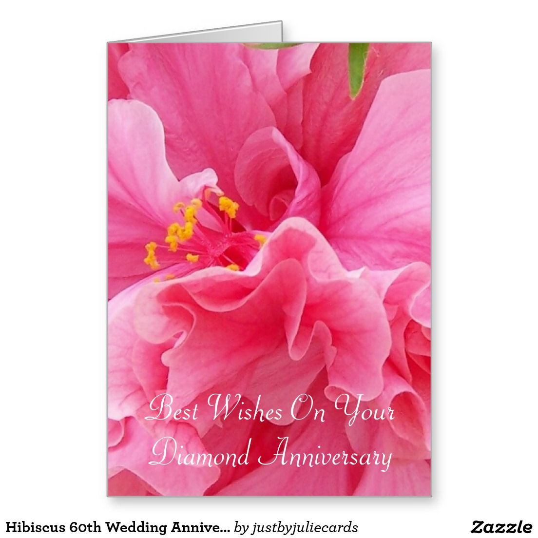Hibiscus 60th Wedding Anniversary Wedding Anniversary Cards