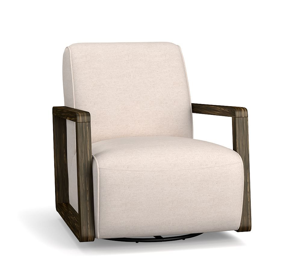 Luka upholstered armchair polyester wrapped cushions performance everydaylinentm by cryptonr home ivory