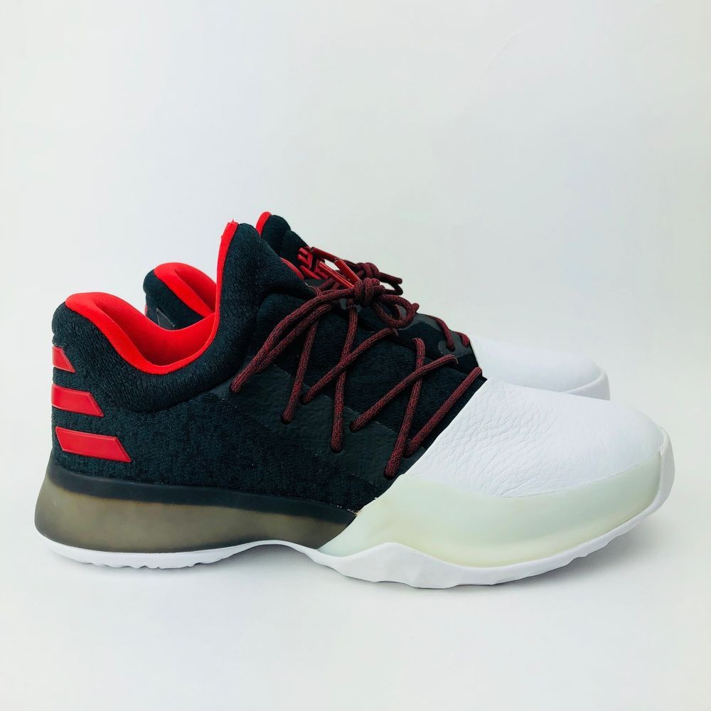 30be79de2ba eBay  Sponsored ADIDAS JAMES HARDEN Vol. 1 Low Shoes Black White Red BW0630  Boys Youth Sizes