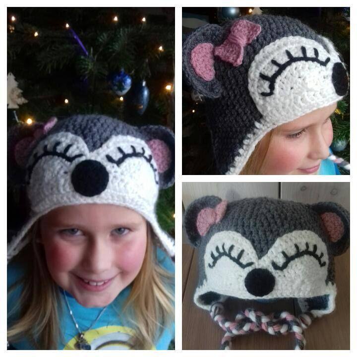 Beren muts gehaakt voor mijn dochtertje van 8. Gemaakt door rozemarijn #crochet