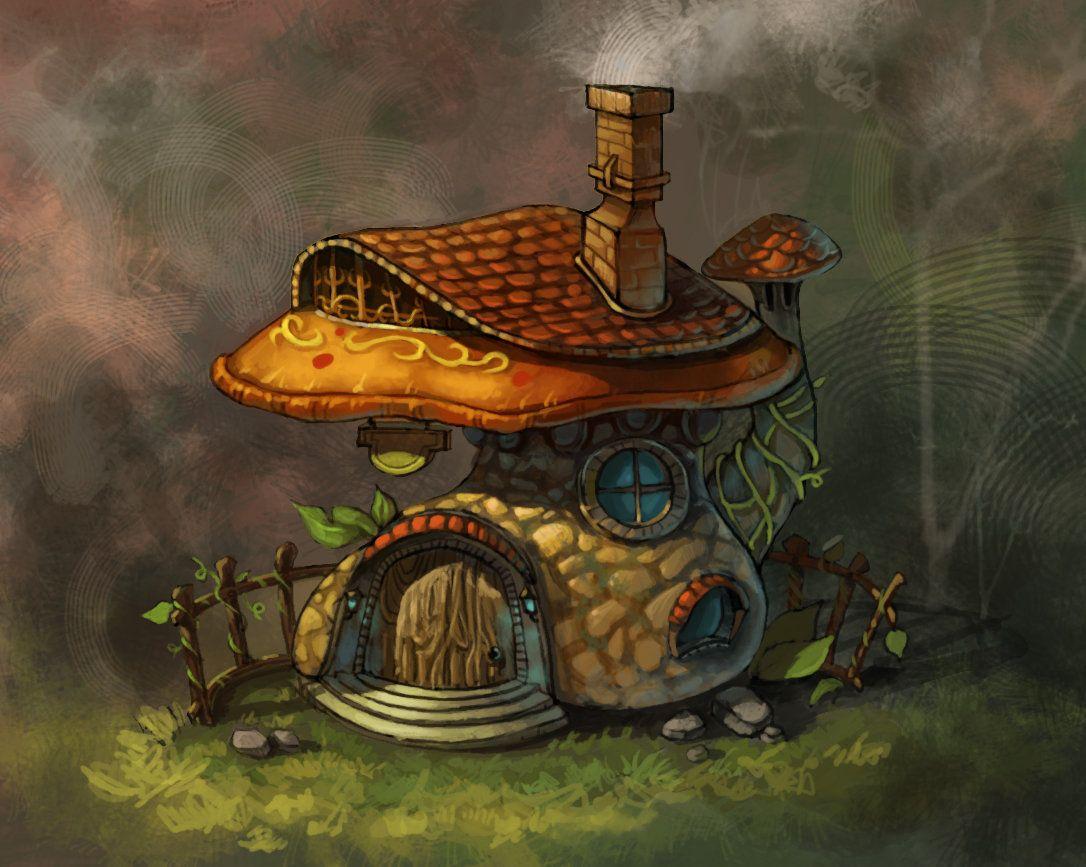 гриб домик картинки фэнтези избавиться