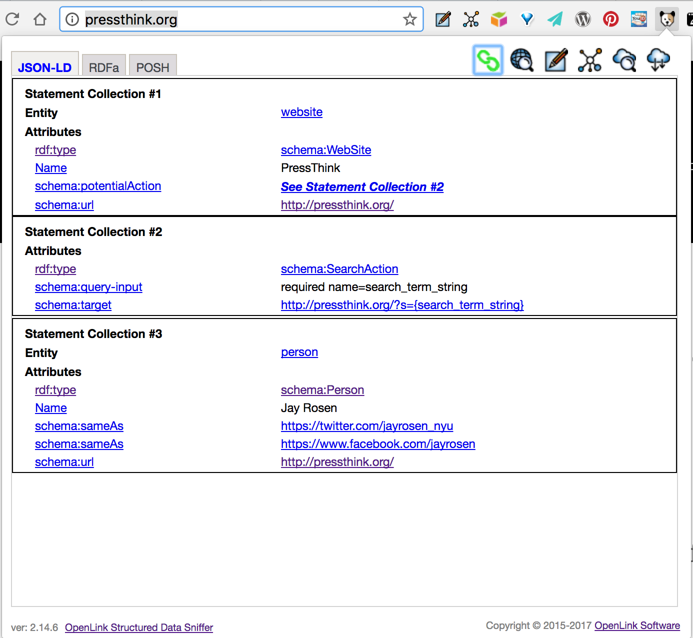 Example Of A Journalist Taking Advantage Of Html5json Ld Rerdf