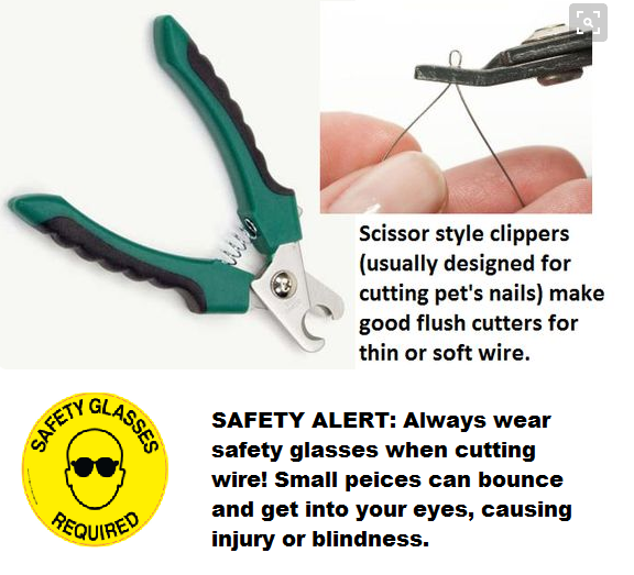 Scissor-style clippers (usually designed for cutting pet nails) make ...