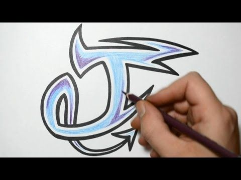 How To Draw Graffiti Characters Letter J With Images