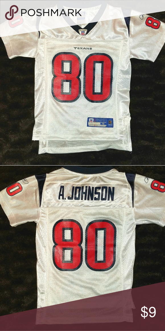 9c646a6f35e HOUSTON TEXANS #80 Andre Johnson Football Jersey This is a youth small  (size 8) football jersey #80 Andre Johnson for the Houston Texans by Reebok.
