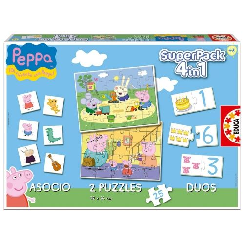 peppa pig superpack 4 jeux en 1 lettre au p re no l 2015 pinterest peppa pig jeux en et. Black Bedroom Furniture Sets. Home Design Ideas