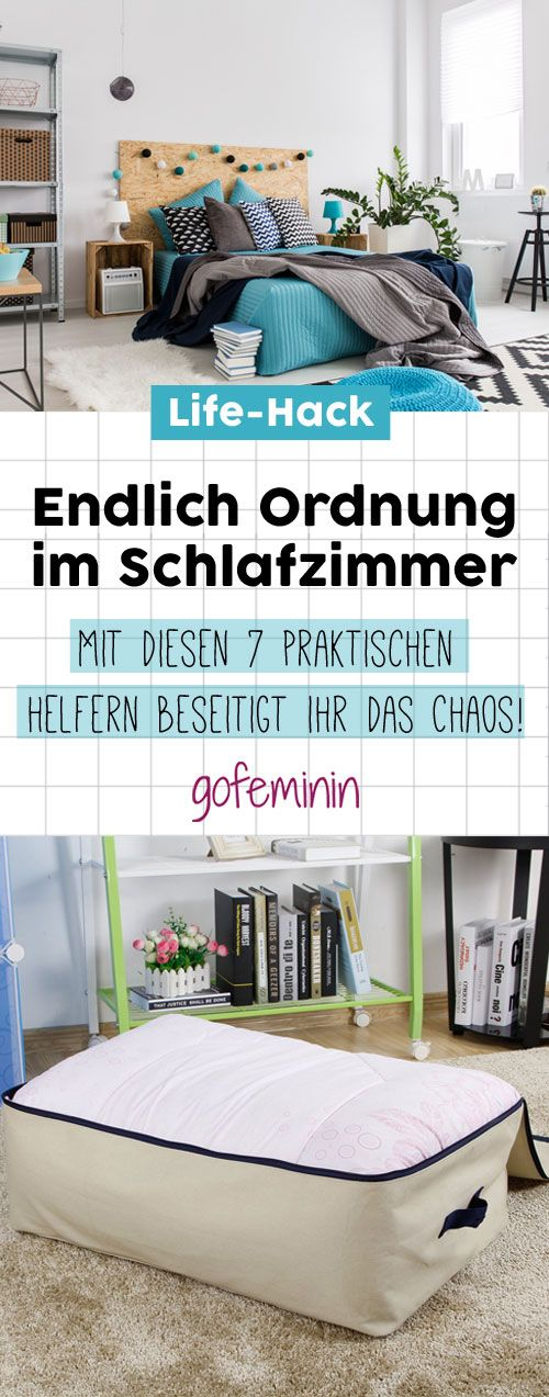 ordnung im schlafzimmer mit diesen helfern klappt s garantiert cleaning pinterest. Black Bedroom Furniture Sets. Home Design Ideas