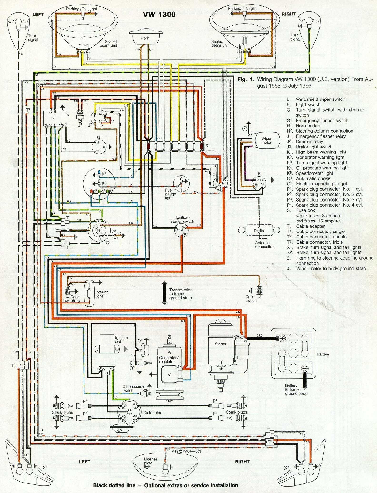 Thesamba Com Type 1 Wiring Diagrams With 1969 Vw Beetle Diagram Vw Kevers Kever Kevers