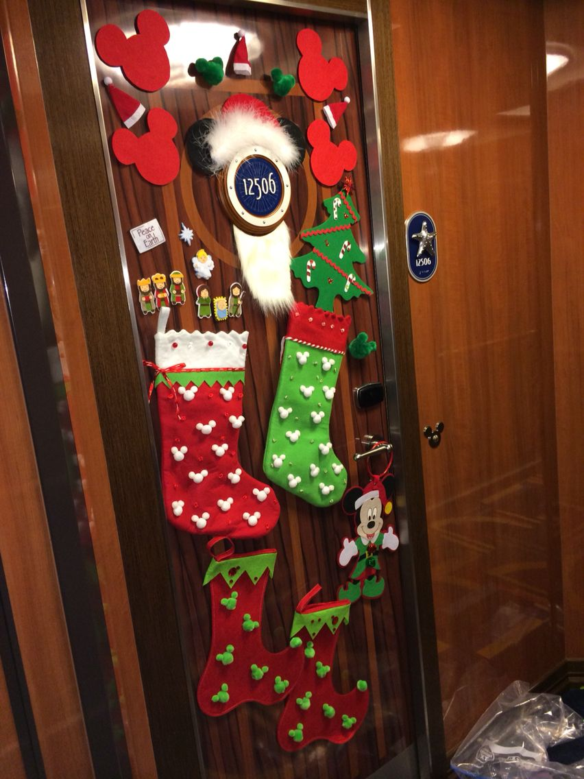 My Disney Cruise Christmas Door Decorations Fish