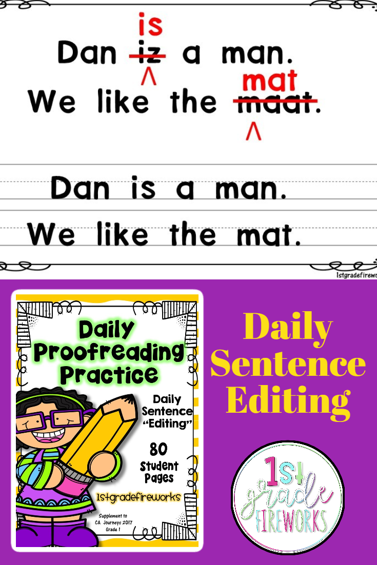 Daily Proofreading Practice   Writing complete sentences [ 1102 x 735 Pixel ]