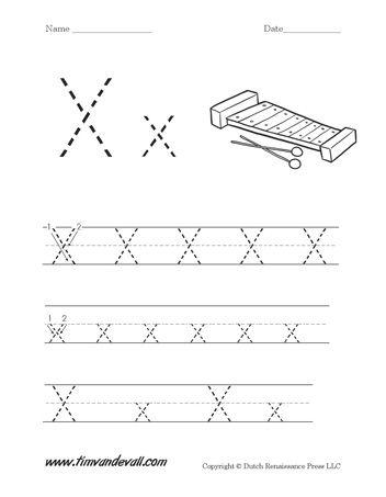 letter x preschool - HD940×1208