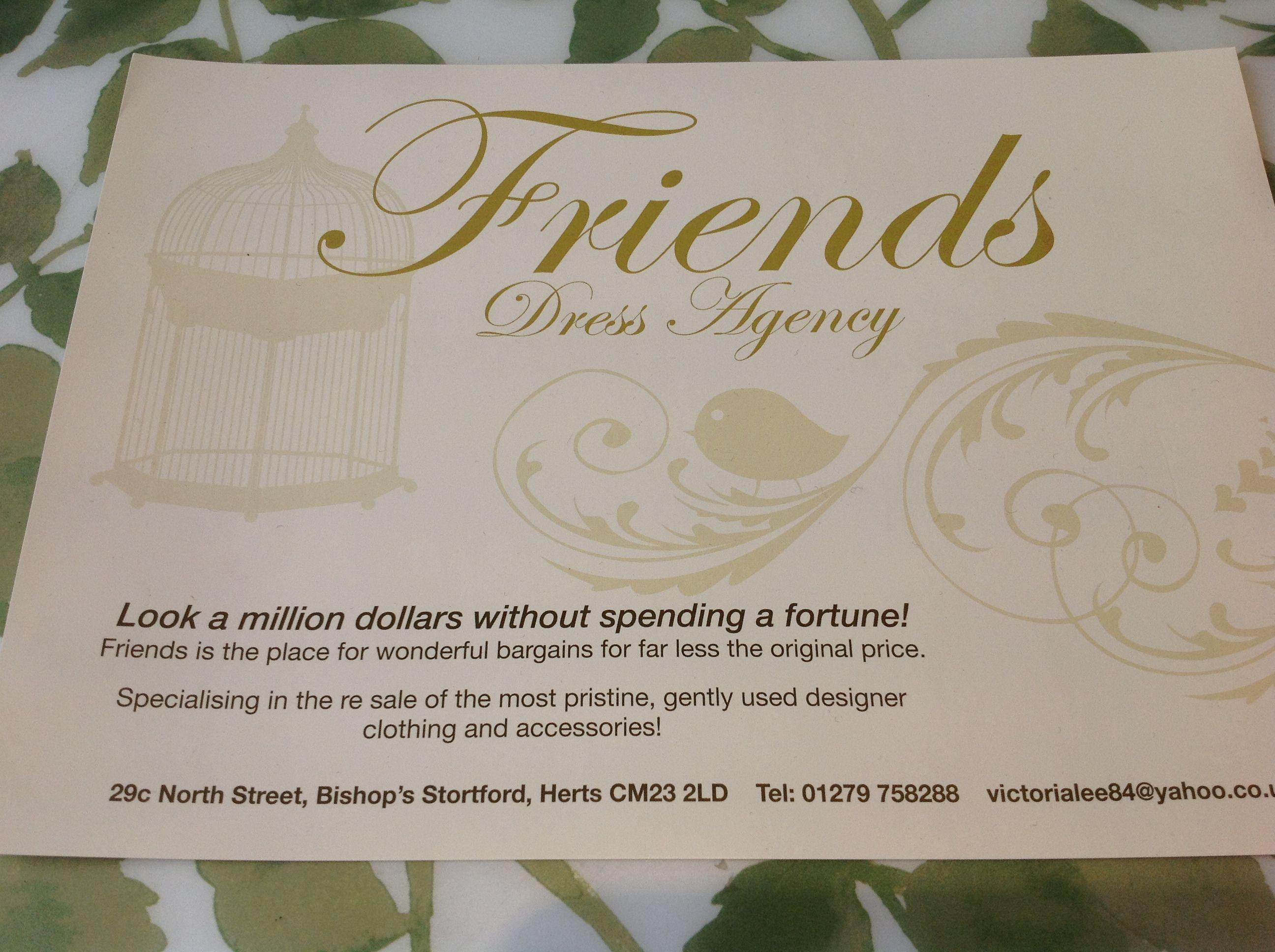 The dress agency - Friends Dress Agency Bishops Stortford Ladies Pre Loved Designer Clothing 01279 758288