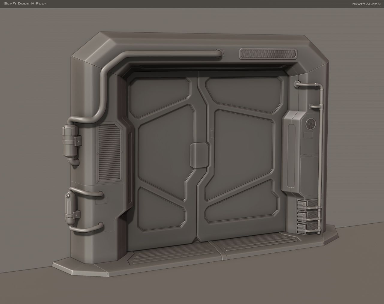 Image result for sci fi spaceship door