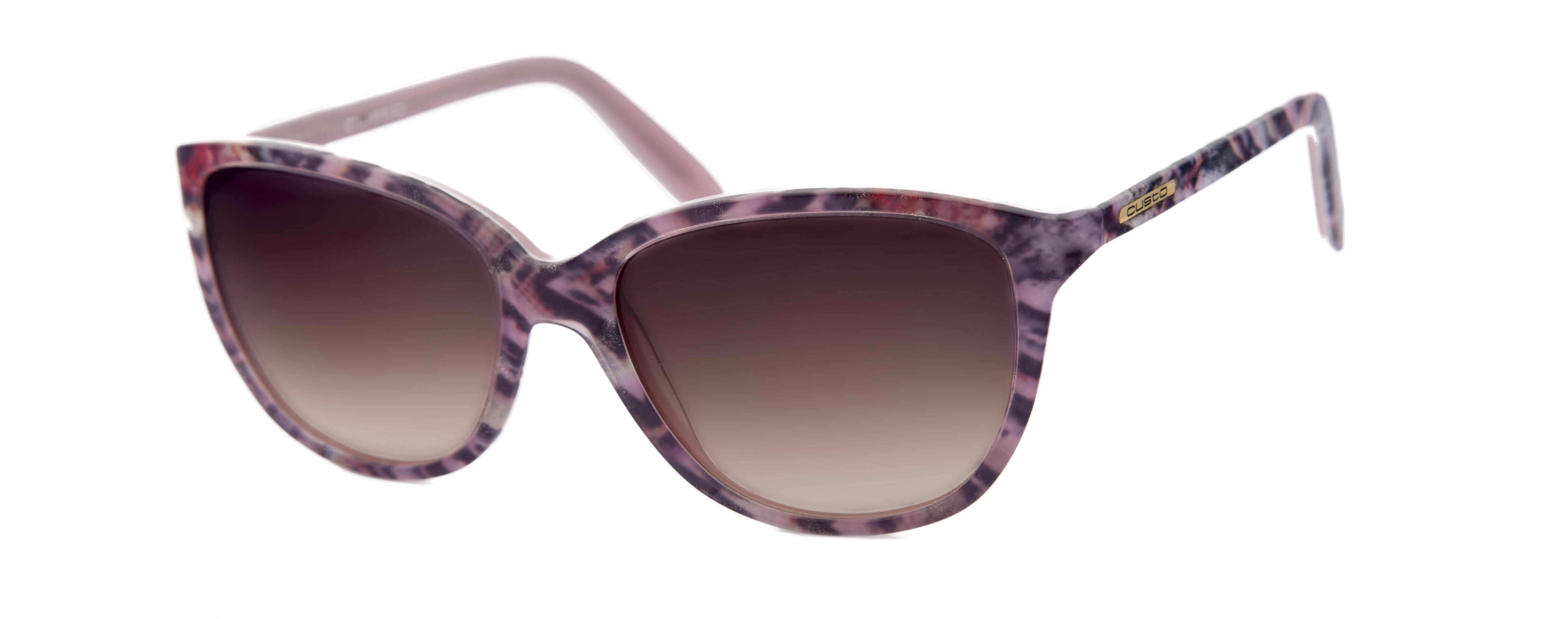 1e09dc50c8 Gafas diseñadas por Custo Dalmau para Opticalia. Montura estampada en tonos  rosas.