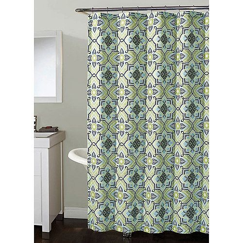 shower curtain blue green - Google Search | Bathroom Inspiration ...
