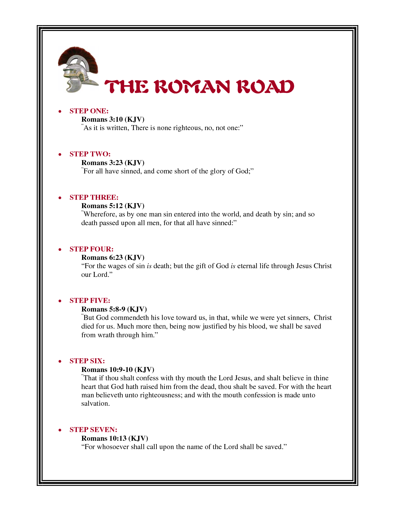 roman road to salvation - Google Search | My Lord ...