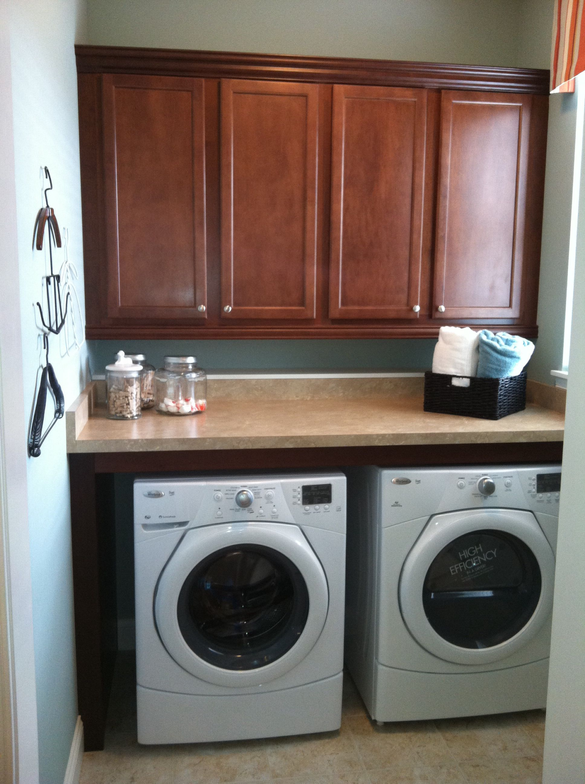 Love The Shelf Over The Washer And Dryer Must Be On The 2nd Floor Room Redo Home Renovation Laundry Room