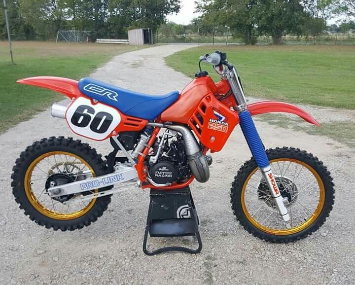 Honda Cr250 Honda Dirt Bike Custom Sport Bikes Vintage Bikes