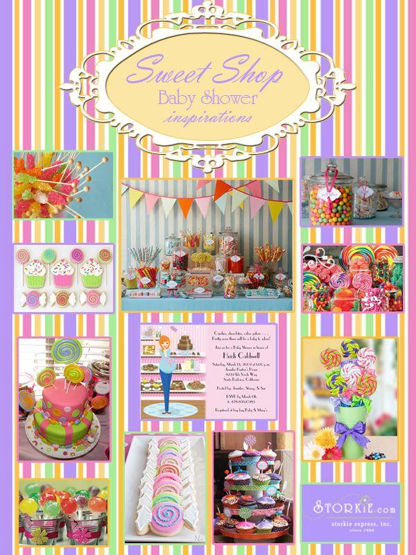 Sweet Shop Baby Shower Inspiration Board Inspiration Boards