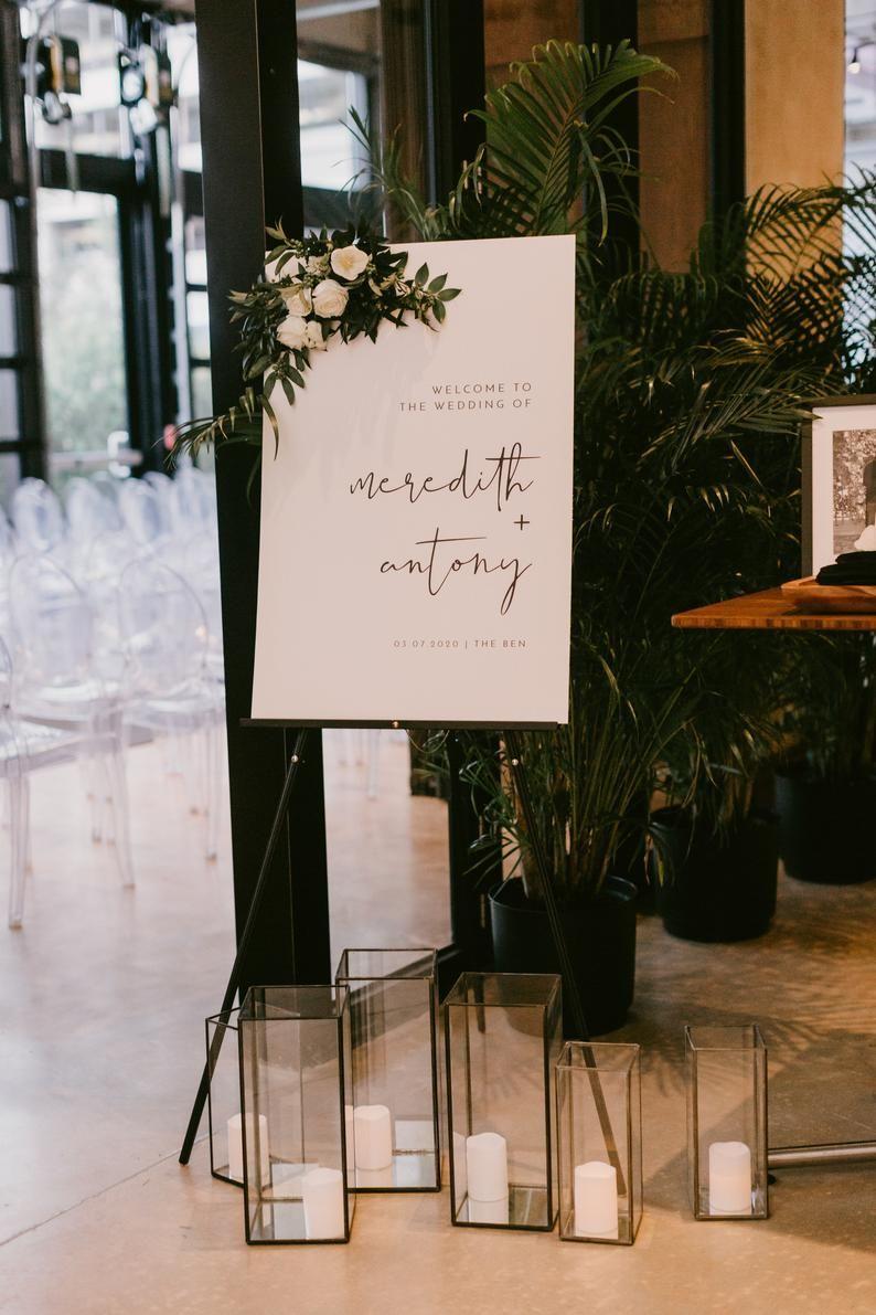 ADELLA Minimalist Wedding Welcome Sign Template, M
