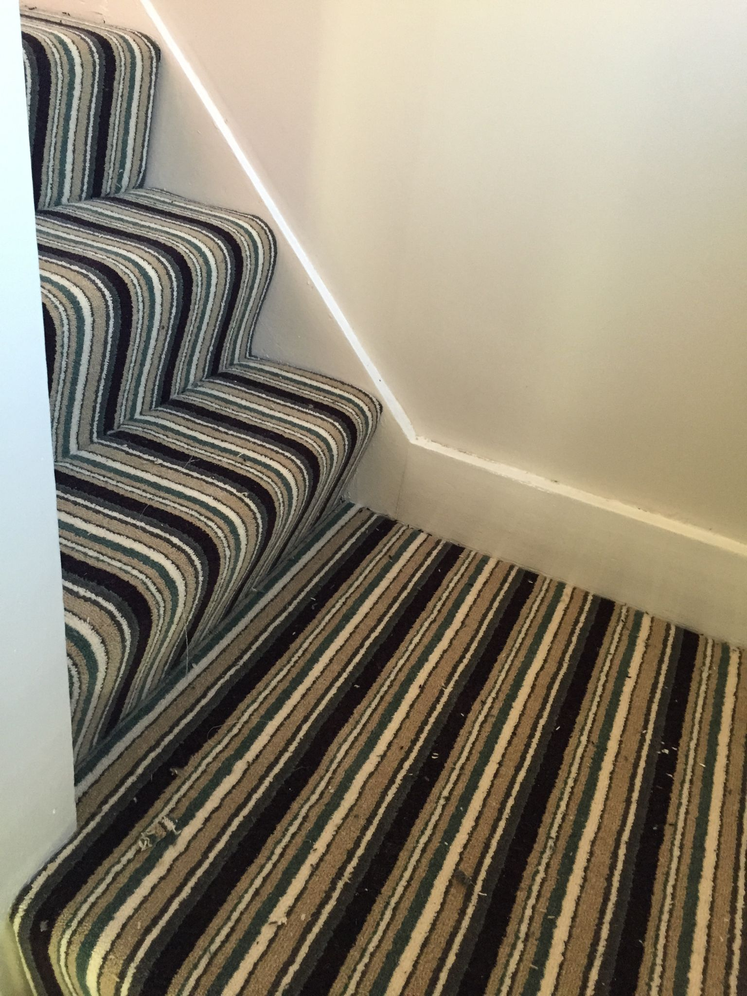 Kingsmead Artwork Stripe Carpet Striped Carpets Stair Lighting Printed Rugs