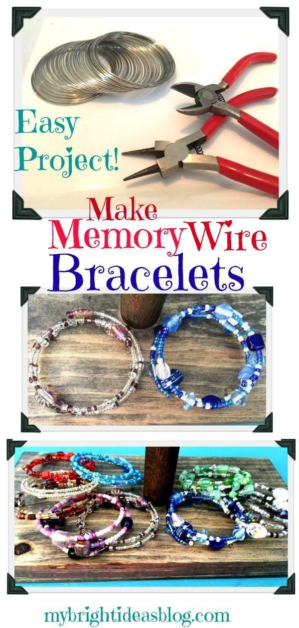Make Memory Wire Bead Bracelets - My Bright Ideas -  Make Memory Wire Bead Bracelets – My Bright Ideas #diybraceletswire  - #Bead #bracelets #Bright #ideas #jewelrybox #jewelryquotes #memory #silverjewelry #wire