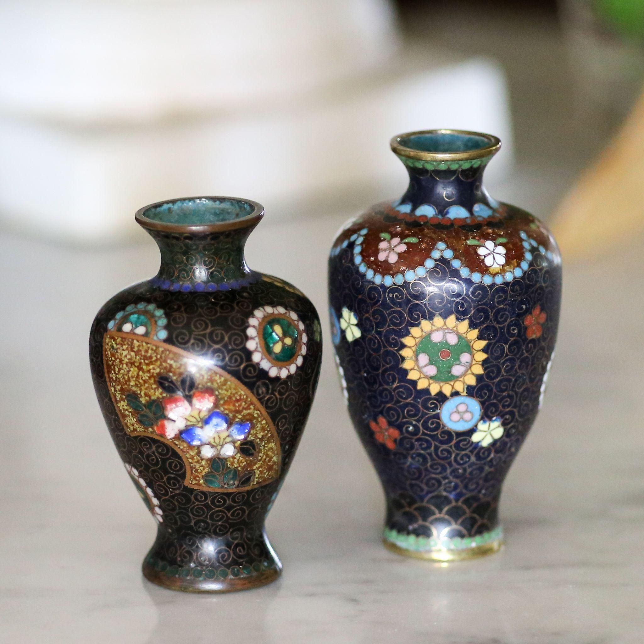 Two antique japanese miniature cloisonn vases from the vault fine two antique japanese miniature cloisonn vases from the vault fine antiques estate jewelry on ruby reviewsmspy