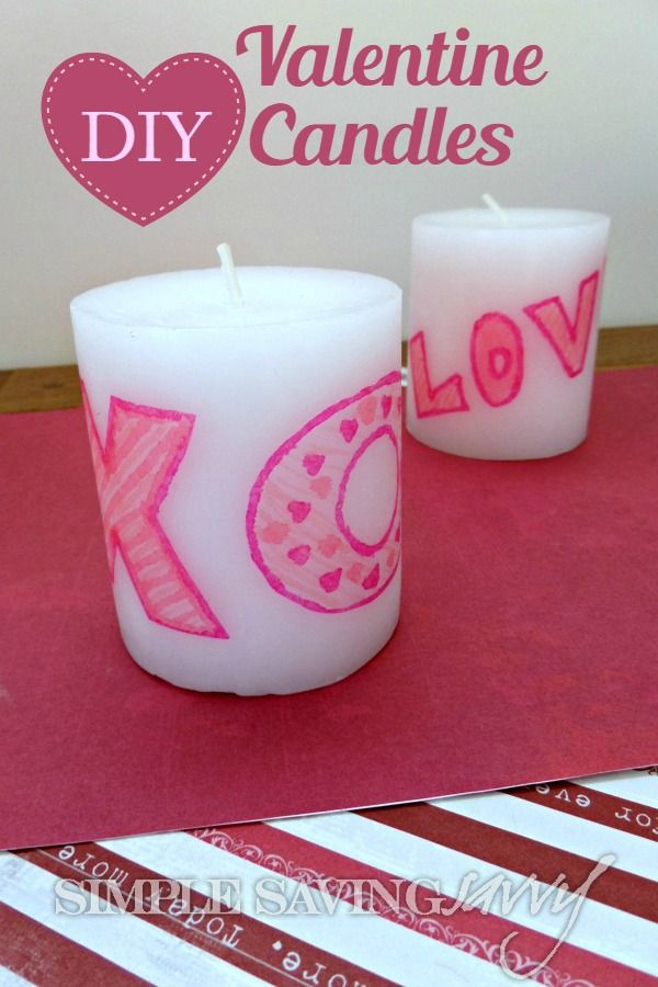 diy valentine candles perfect for any occasion