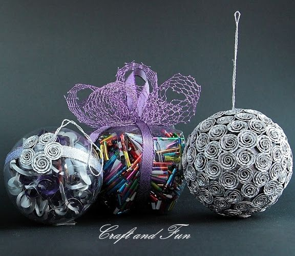 Christmas Balls Made With Recycled Material Recycled